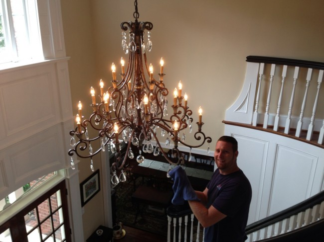 Chandelier cleaning showroom awarded 1 in charlotte nc see some of our recent chandelier cleaning mozeypictures Gallery