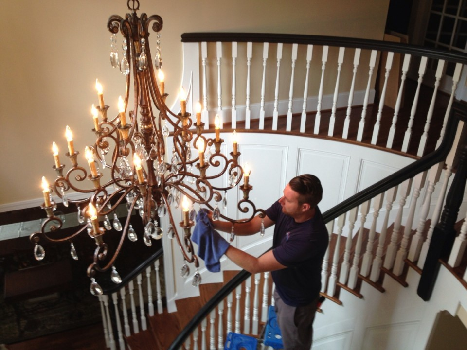 Chandelier cleaning showroom awarded 1 in charlotte nc see some of our recent chandelier cleaning mozeypictures Images
