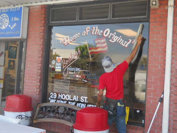 Store Front Window Cleaning Showroom Awarded 1 In